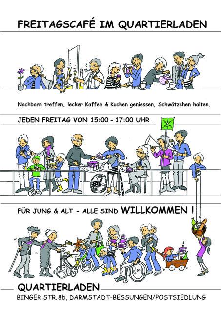 Comic Quartiercafe von Zusammen in der Postsiedlung e.V.