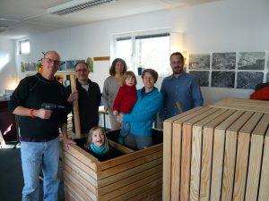Hochbeete-Bau für den Postsiedlungs – Quartierplatz!