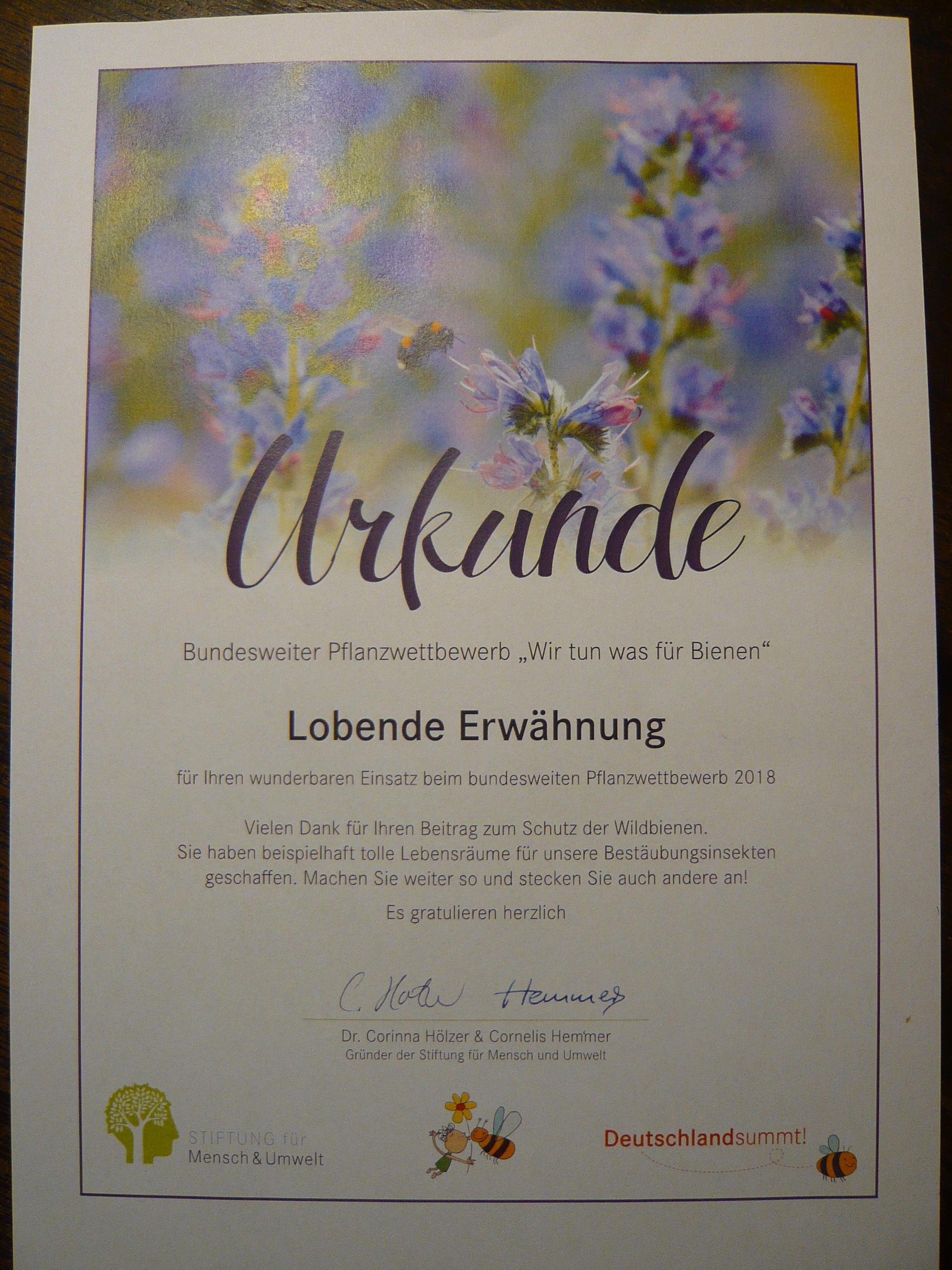 Lob für Quartierladen bei bundesweitem Wettbewerb Deutschland summt…