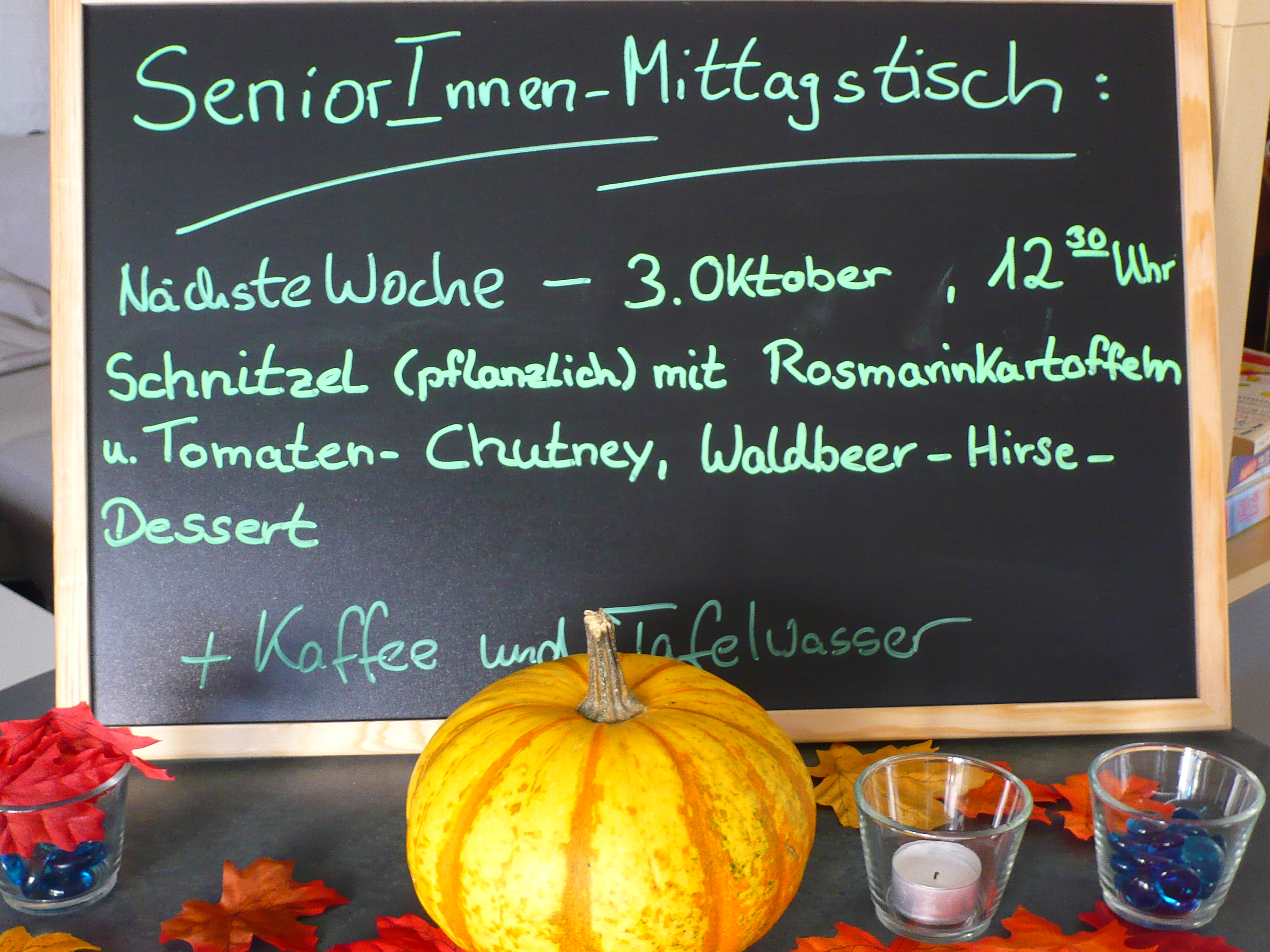 Schöner SeniorInnen-Mittagstisch am 03. Oktober – ein Bericht