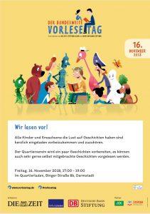 Einladung zum bundesweiten Vorlesetag 2018 am Freitag, 16.11. um 17:00 Uhr, Quartierladen