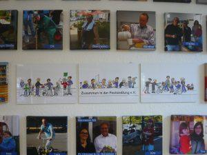 AktivistInnen Bilderwand im Quartierladen eröffnet…