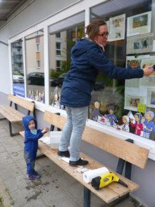 Gemeinsamer Putz- und Werktag für den Quartierladen ein schöner Erfolg…