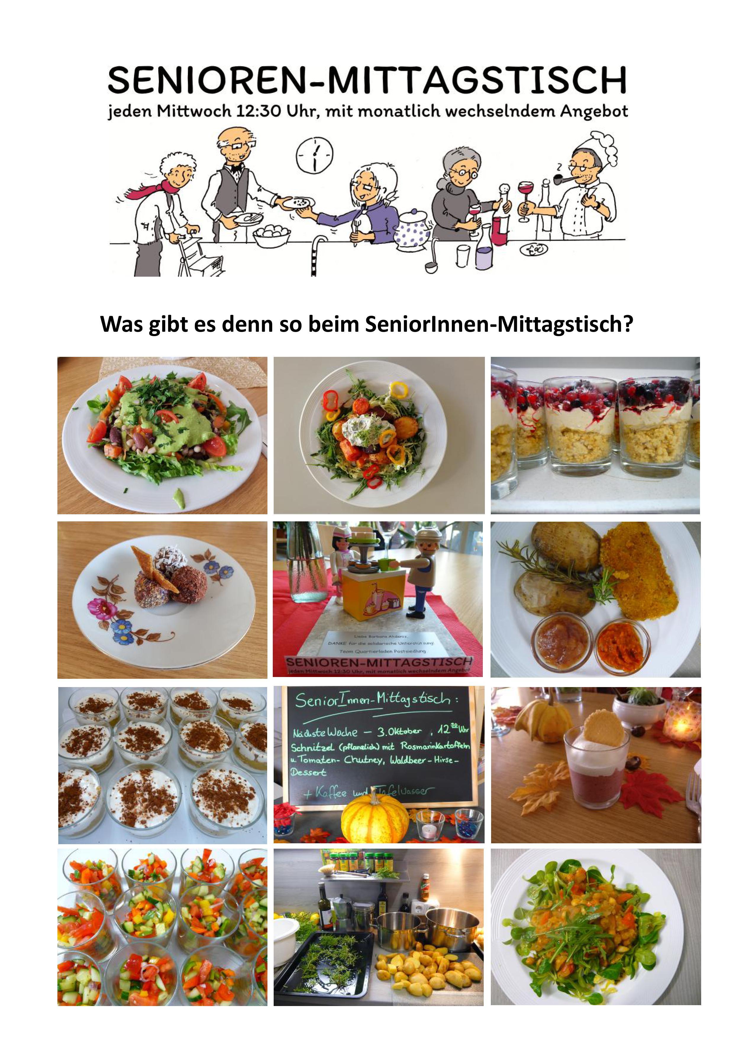 Was gibt es denn so beim SeniorInnen-Mittagstisch? – ein Einblick in Bildern…