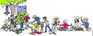 Nächsten Samstag, 14:00 Uhr: Einladung zum Zwiebelfest und Blumenzwiebel-Steck-Wettbewerb
