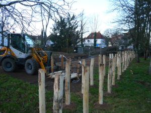 Zukünftiges Biotop Postsiedlung: Bauarbeiten laufen gut an!