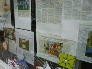 Quartierladen: Unbekannte werfen unsere Scheibe ein…