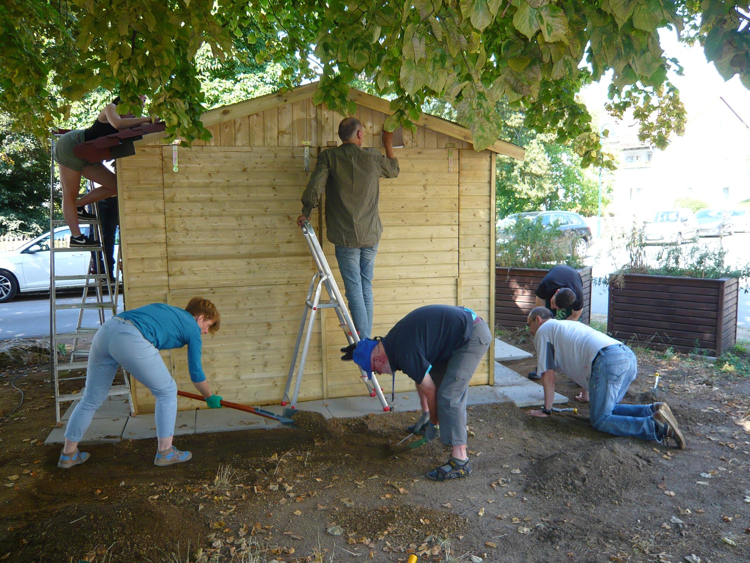 Hüttenbau-Aktion: Dritte Runde am gestrigen Samstag – es geht voran!