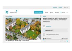 VONOVIA-Bauvorhaben Heinestraße: Anwohner starten Petition gegen maximale Verdichtung…