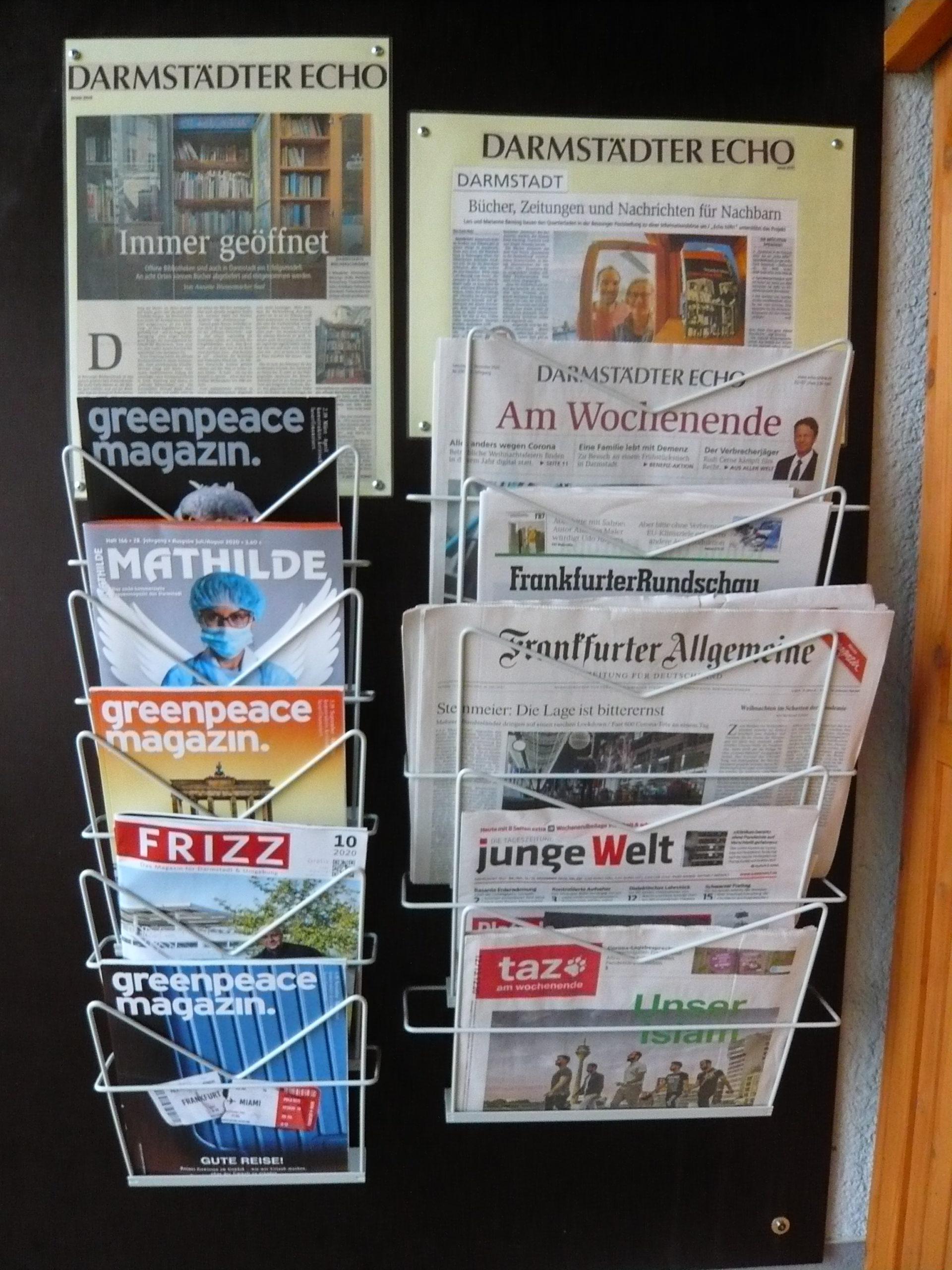 Postsiedlung: Zeitung oder Magazin ausgelesen? Dann spenden Sie es doch weiter!