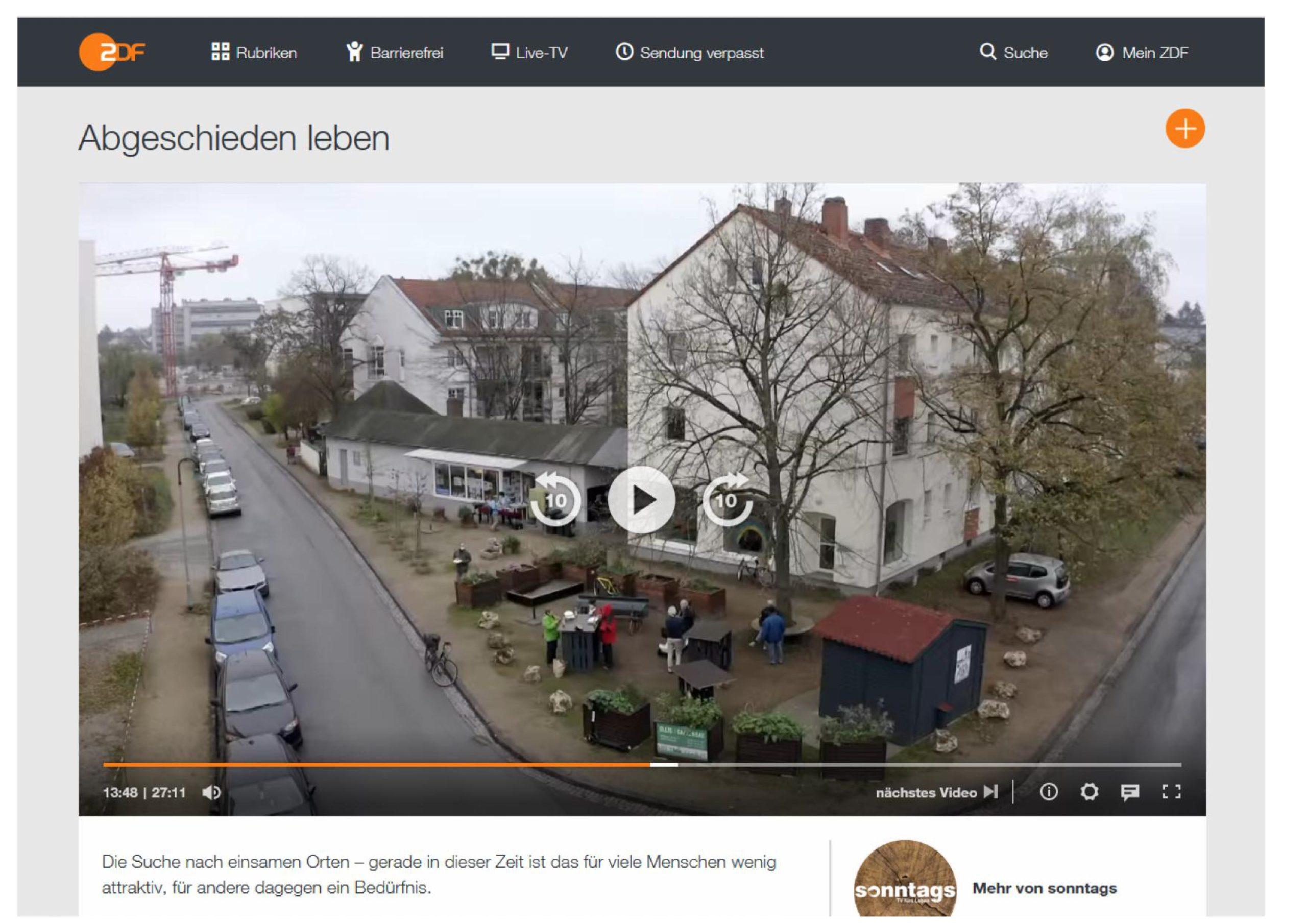"""You are currently viewing ZDF-Magazin """"Sonntags"""" sendet schönen Beitrag aus der Postsiedlung"""