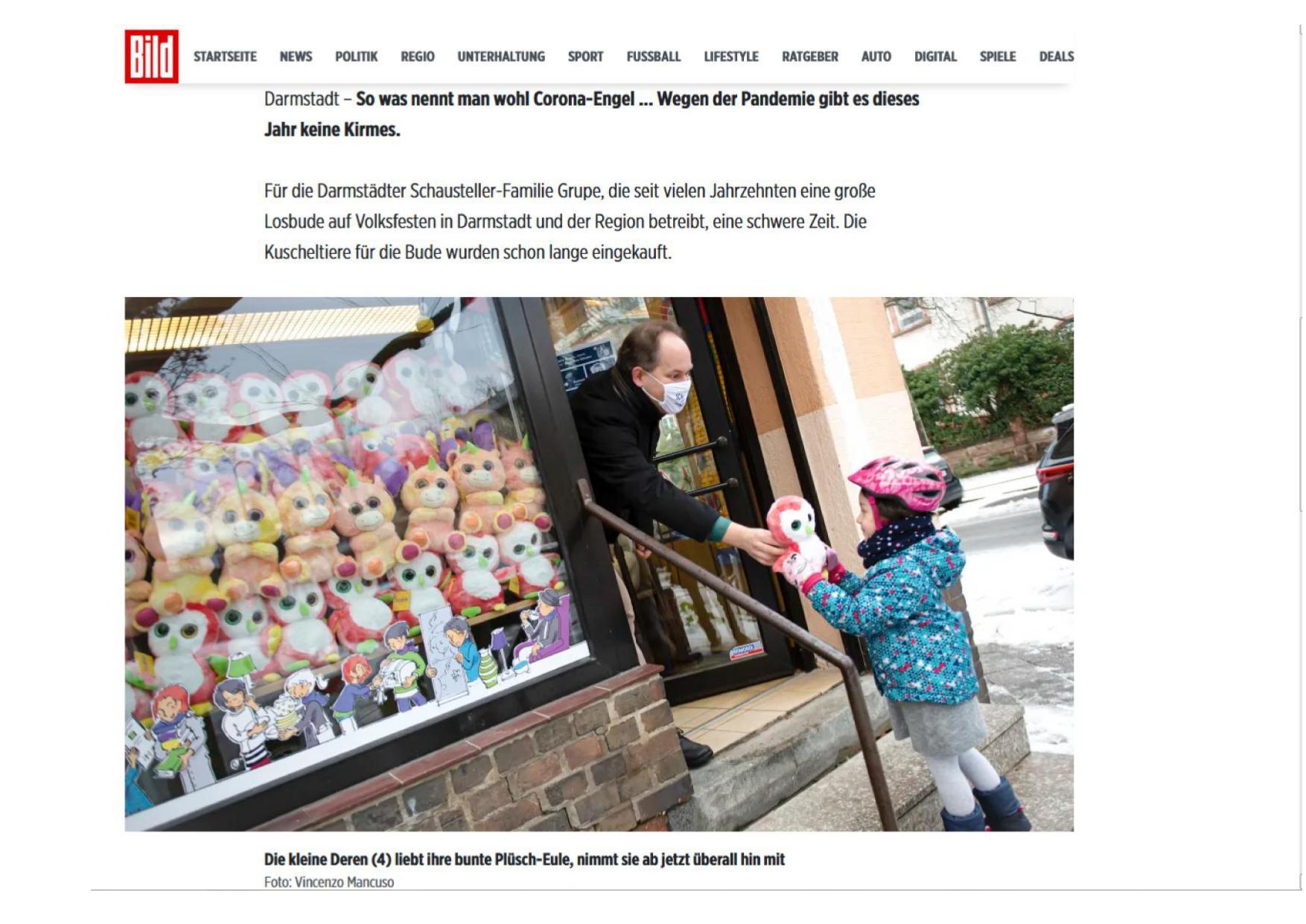 Die BILD-Zeitung in der Postsiedlung…