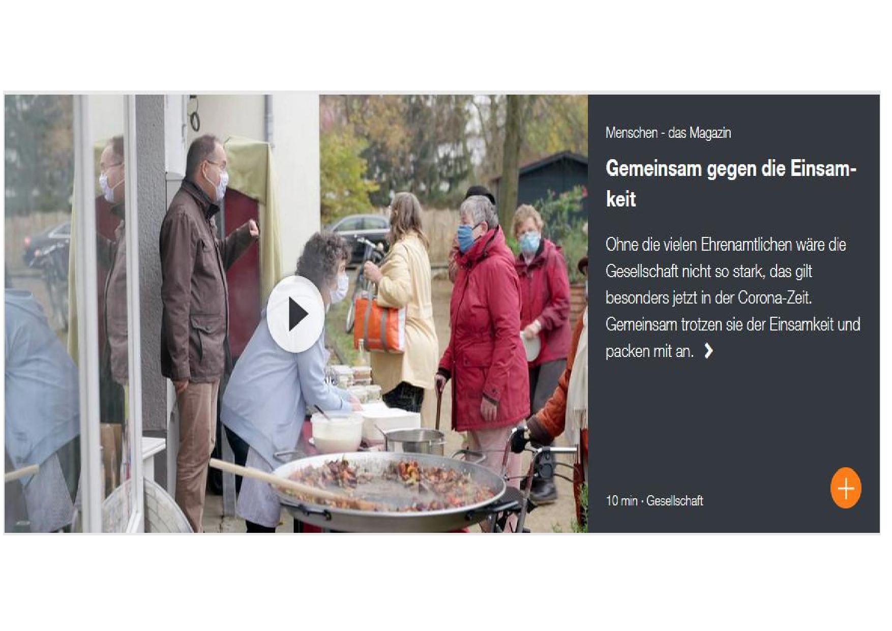 Menschen – das Magazin zeigt im ZDF wunderschönen Beitrag zu unserer Arbeit