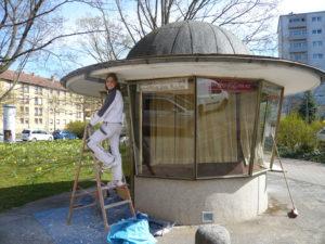 Kiosk 1975: Denkmalgerechte Sanierung startet!