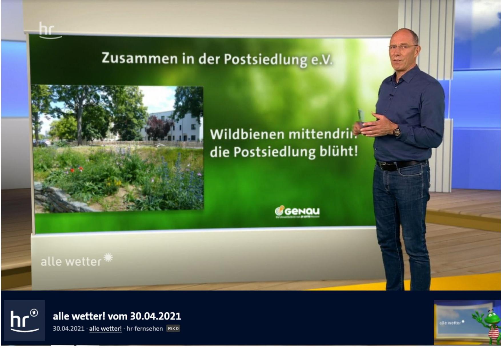 Biotop: GENAU-Umweltlotterie prämiert unsere Arbeit mit 5000,- Euro + Bericht im Hessenfernsehen!