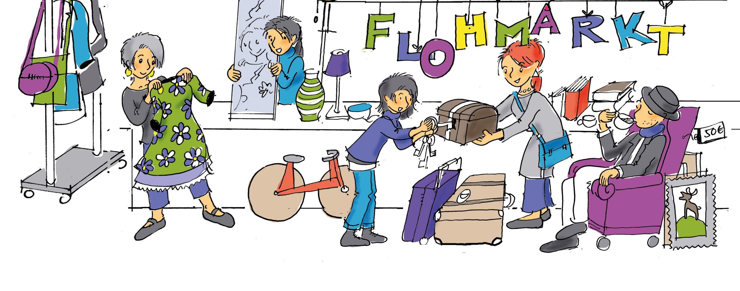 Read more about the article Doppelpack: 2 x Flohmarkt im Quartier in und um die Postsiedlung