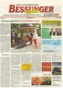 Read more about the article Kiosk 1975: Schöner Artikel in den Bessunger Neue Nachrichten…