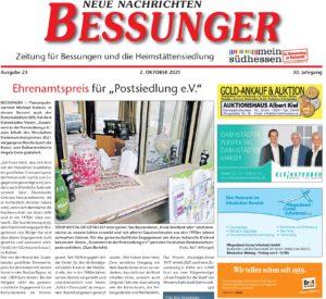 Read more about the article Kiosk 1975: Bessunger Neue Nachrichten berichten über unseren Landesdenkmalschutzpreis!