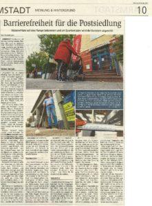 Read more about the article Quartierladen: Großer Artikel im Darmstädter Echo zu unserem Barrierefrei-Engagement im Quartier…