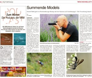 Read more about the article Biotop: Sehr schöner Artikel im Südhessen Wochenblatt zu unseren Forschungsaktivitäten